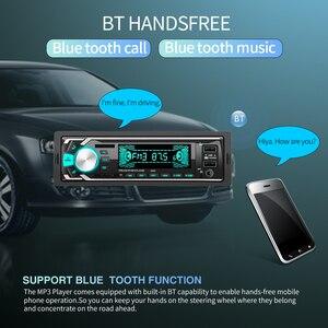 Image 2 - 12 V הכפול USB אלחוטי לרכב משולב רכב FM/TF כרטיס/AUX/MP3 רדיו נגן ידיים קורא תשלום מהיר מטען לרכב ערכה