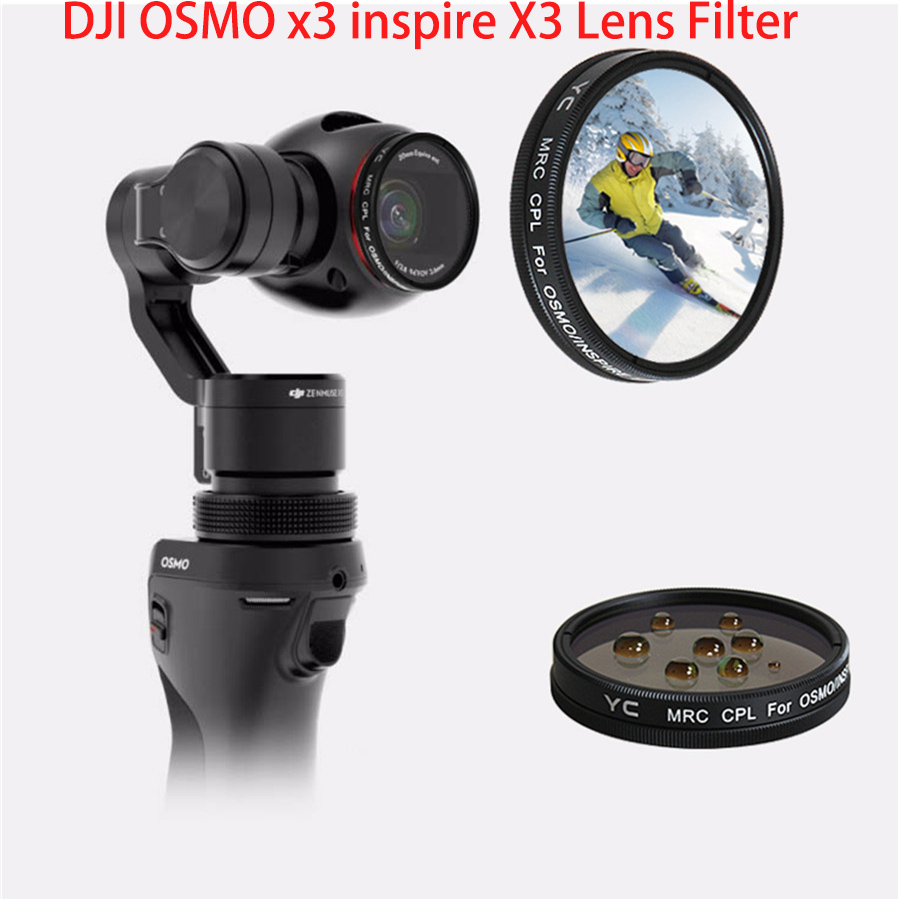 DJI OSMO MCUV CPL ND4 ND8 ND16 ND32 ND64 ND2 Verre Filtrant Pour DJI OSMO Cardan Inspirer 1 Zenmuse X3