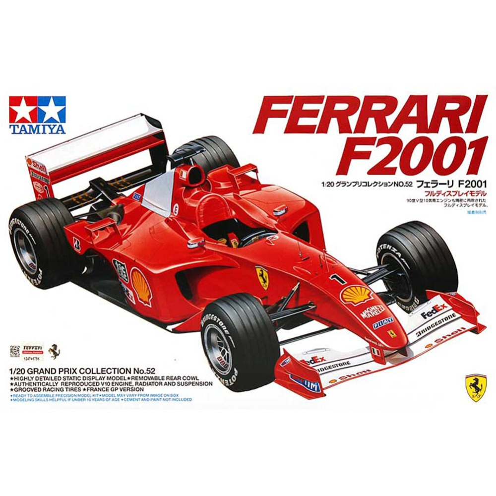 OHS Tamiya 20052 1/20 F2001 F1 Racing Car Scale Assembly Car Model Building Kits oh цены онлайн