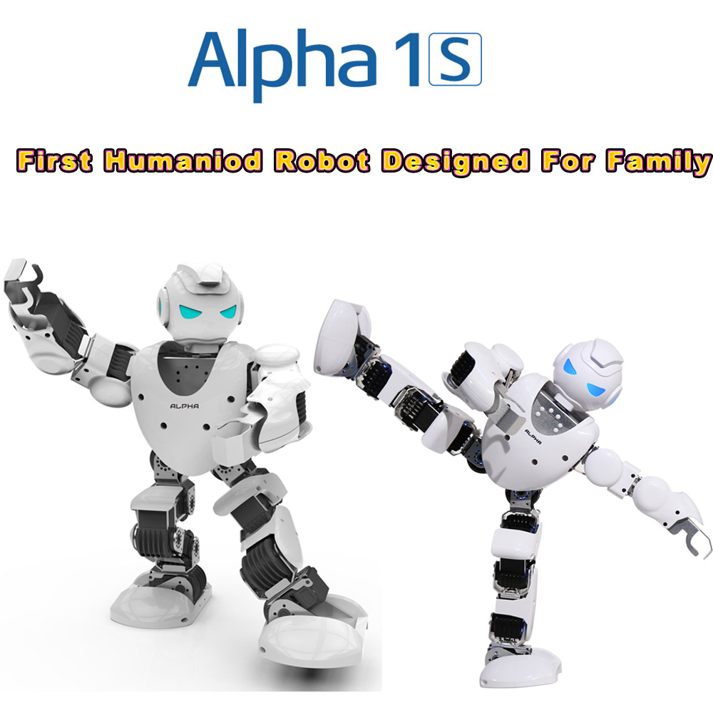 2016 newest KID TOY SMART HUMANOID ROBOT UBTECH Alpha 1s 3D Programmable For Intelligent Life Companion Entertainment Education