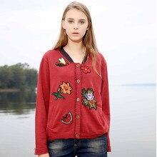 2017 Cardigans Sweaters Women Knitting Autumn Winter Fall Fashion Oversized Poncho Christmas Unif Jumper Women Floral Cardigan