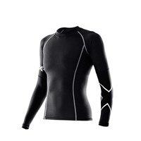 Tight T Shirt Female Long Sleeved Compression Women Shirt UV Resistant Black Wicking Joggers Stadium Tshirt