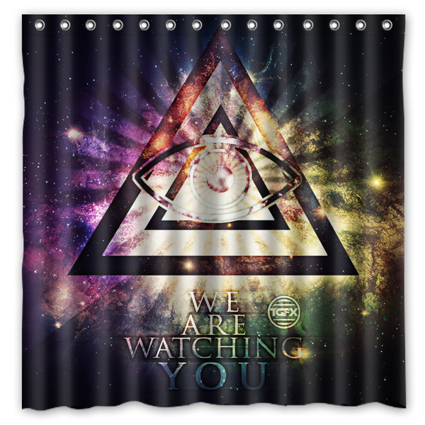 Home & Garden Lovely 2016 Illuminati Waterproof Polyester Shower Curtain Mildewproof Bath Curtains Cortinas Para Banheiro 180x180cm Fine Workmanship Shower Curtains