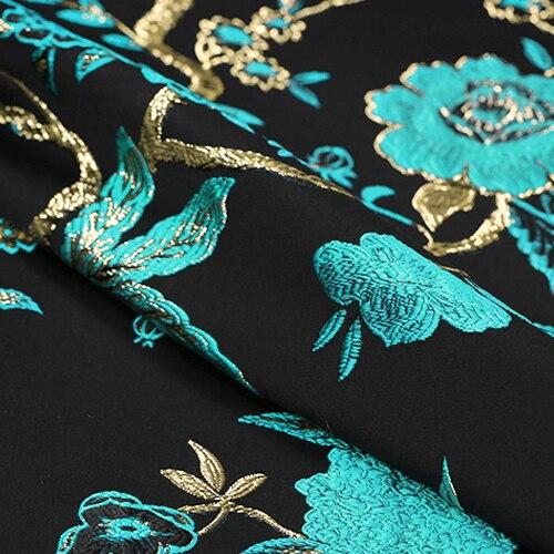Arany vonal Sky kék madár Jacquard brókát plüss szövet ruha - Művészet, kézművesség és varrás - Fénykép 4