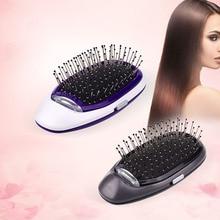 Мини электрическая щетка выпрямитель для волос фен с ионизацией Массажная щетка для волос портативная Расческа для укладки отрицательных ионов массажёр кожи головы