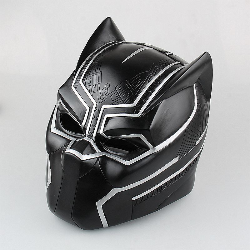 Movie Figure 1:1 Captain America 3 Black Panther Helmet Cosplay Collectors Action Figure Toys Christmas Gift Model captain america civil war black panther helmet 1 1 scale hallowmas party cosplay helmet black panther pvc action figure kids toy
