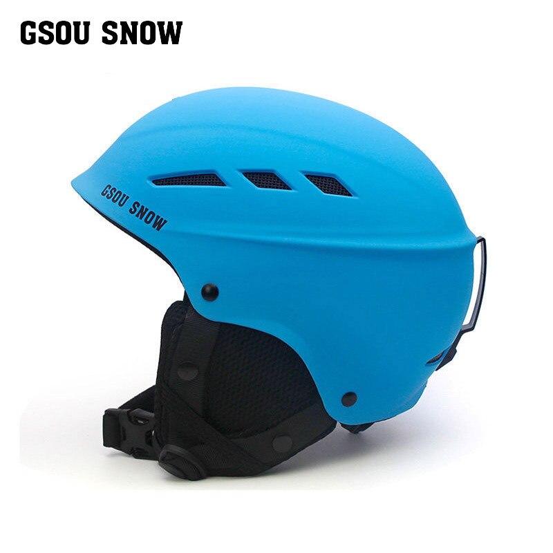 GSOU NEIGE casque de ski enfants casque ski barre enfants garçons filles snowboard casque skihelmet léger