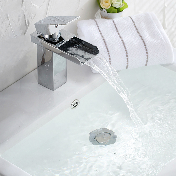 NEW Bathroom faucet basin mixer  waterfall brass single handle vessel sink mixer vanity tap water taps for deck hot and coldNEW Bathroom faucet basin mixer  waterfall brass single handle vessel sink mixer vanity tap water taps for deck hot and cold
