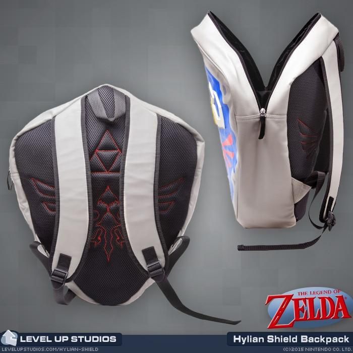 1f206f1ce9f5 legend of zelda shield backpack   Wholesale 5pcs lot   Official Legend Of Zelda  Hylian Shield Backpack 3D Backpack School Bag-in Backpacks from Luggage ...