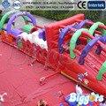 FRETE GRÁTIS POR MAR Incrível Paty Playground Inflável Pista de Obstáculos Bouncer Inflável Com Ventilador de Ar