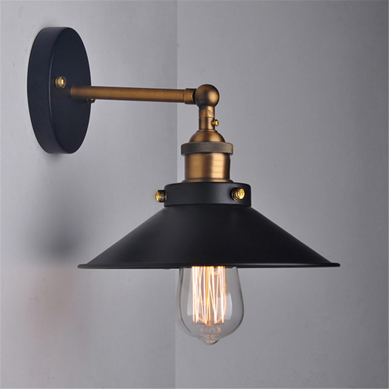 Wall Hanging Lights: Vintage Pendant Light,Metal Wall Sconce Lamp Shade 180