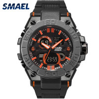 Men Watches Stainless Leather SMAEL Brand Quartz Wristwatches Military Digital Watch LED Shock 8003Men Sport Watches