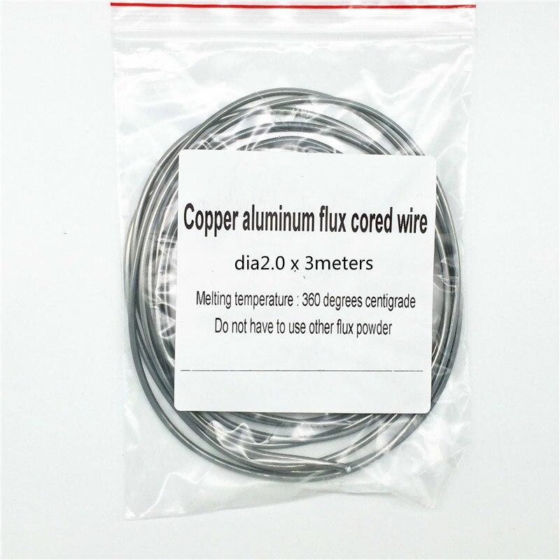 Fil de cuivre en aluminium fil fourré fil de soudure en cuivre basse température brasage baguettes de soudage pour AC & réfrigération 2.0*3mm