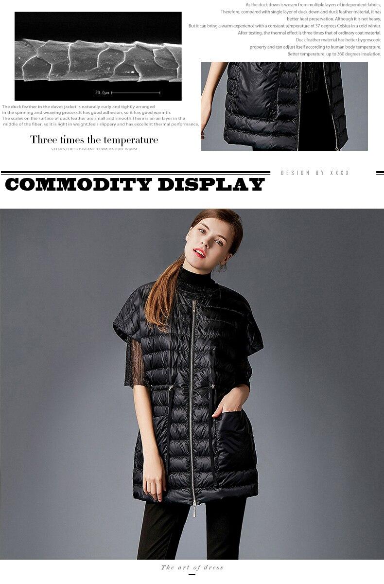 Doudoune femme gilet hiver mélange doudoune manteaux femme