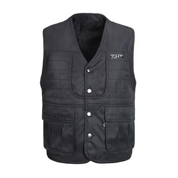 7b9aec4ee50 Product Offer. Осень хлопок Для мужчин жилет с множеством карманов теплые  Повседневное зимняя ветровка куртка ...
