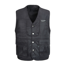 Autumn Cotton Men Vest With Many Pockets Warm Casual Winter Windbreaker Sleeveless Jacket For Male Thick Outerwear Waistcoat black side pockets sleeveless outerwear