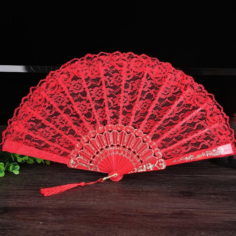 Damen Klappspitze Hand Fan Großhandel Personalisierte Fans der Alten - Wohnkultur - Foto 3