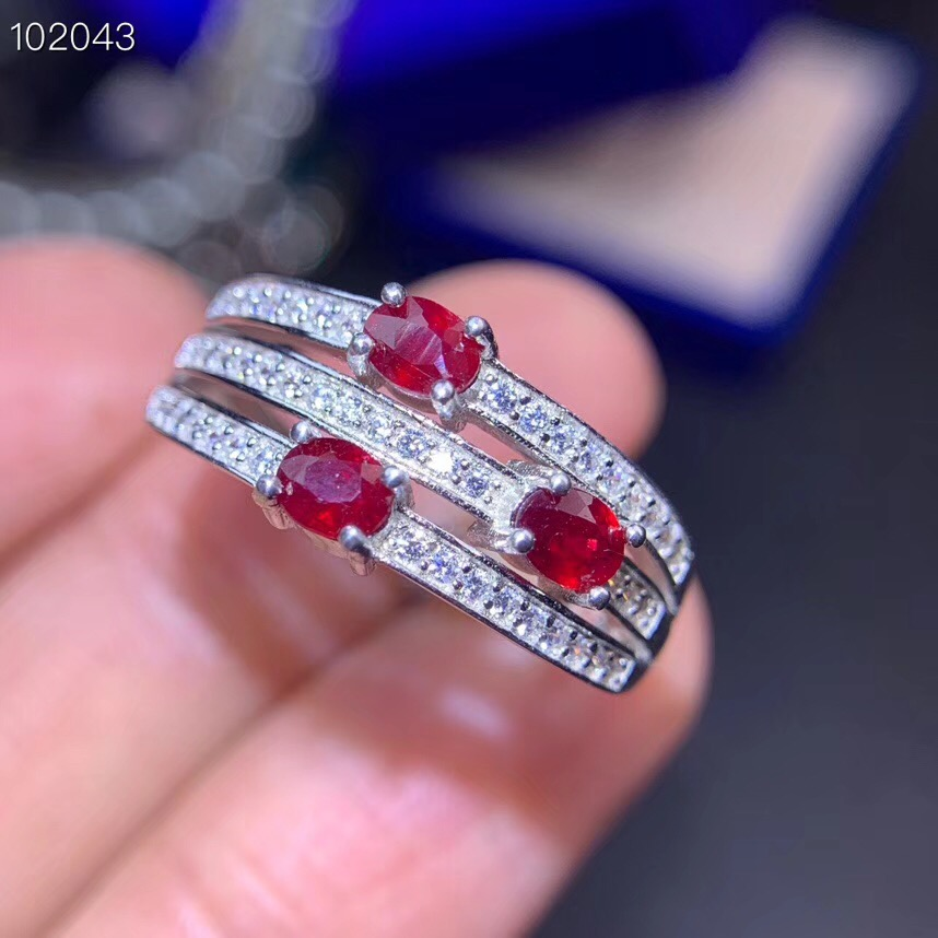 Natural And Real Ruby ring Free shipping ruby 925 sterling silver Fine handworked jewelry Finger rings Gem
