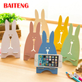 10pcs/lot Wooden Rabbit Phone Holder Gift Mobile Holder Phone Stand Folding for iPhone 5S 6S 7 iPad Xiaomi Redmi 3 Note 2 Sony