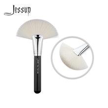 Кисть для пудры jessup макияжа лица большой мягкий веер косметический