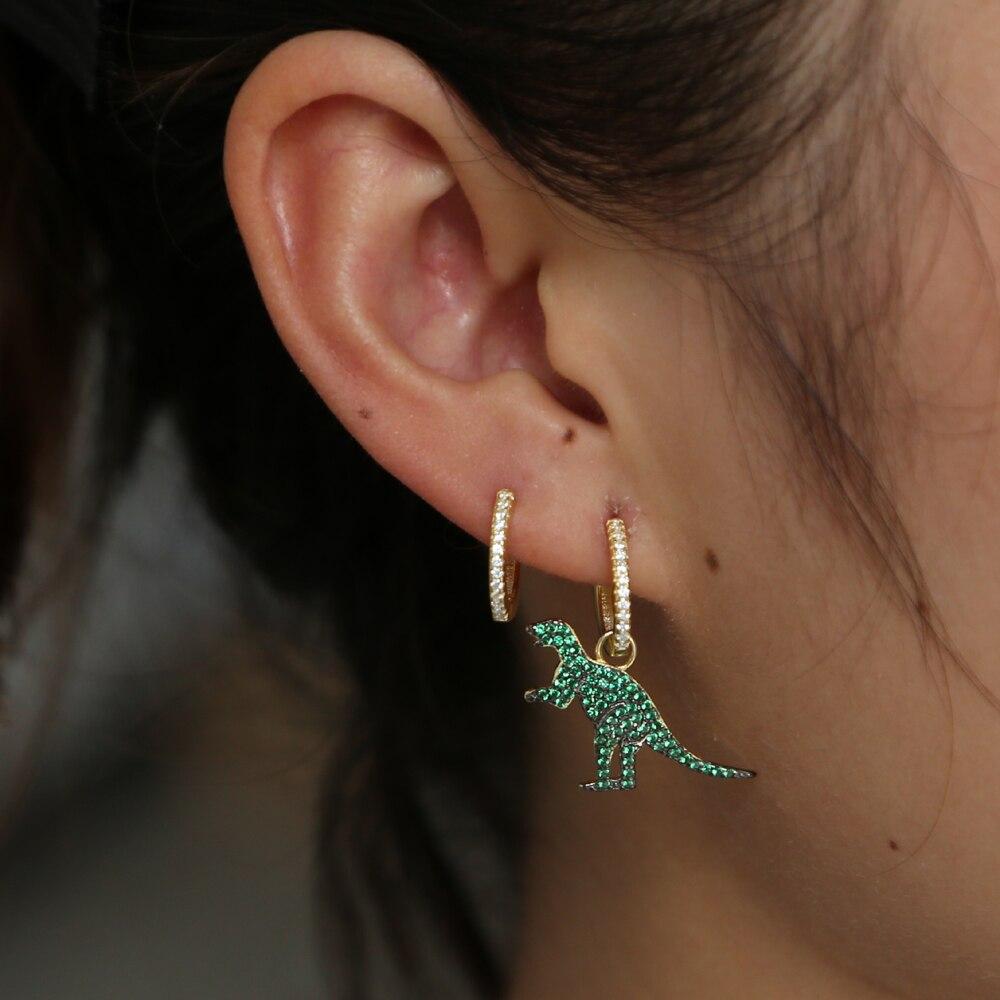 Korea 925 Silver Needle Small Fresh Sun Flower Green Earring Korean Fashion Forest Flower Split Temperament Cute Unique Earrings Jewelry & Accessories Earrings