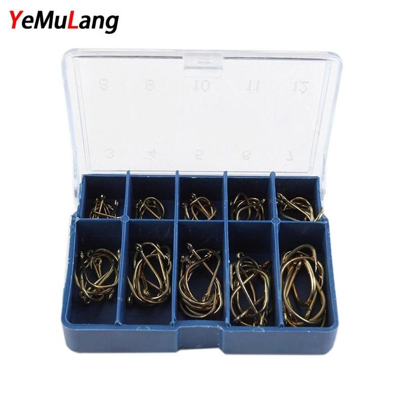 YeMuLang 3 # -12 # Cârlige pentru pescuit de aur de 70 kg / Cutie cu - Pescuit