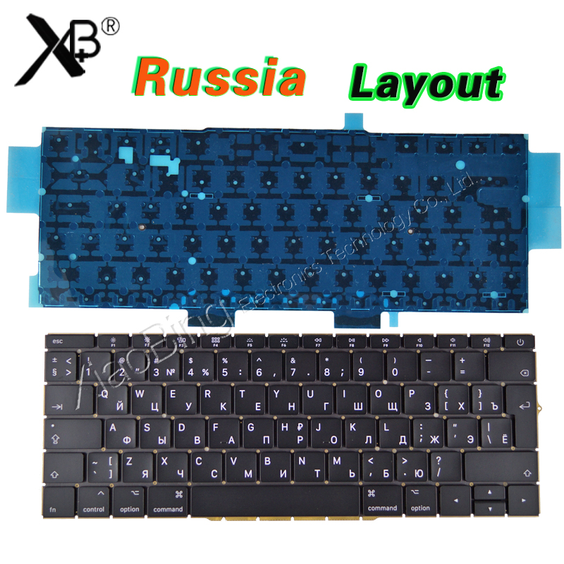 NEW A1708 Russian for Macbook Pro Retina 13 A1708 Russian Russia RU Keyboard Backlight Backlit Late 2016 Mid 2017 Year