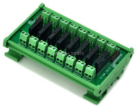 DIN Rail Mount 8 Channel SSR Solid State Relay Interface Module AC100 240V 2A