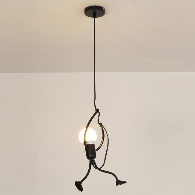 Modern Pendant Light Contemporary Black Metal Lamp Design Hanging Lighting 1 Lights Children S Room