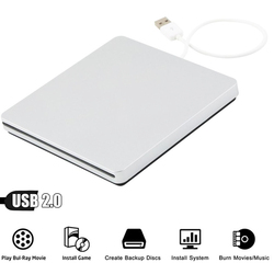 Dla Apple MacBook Pro Retina 2013 ME664LL/A ME662LL/A 8X DVD USB 2.0 napędu SuperDrive DVD ROM Combo odtwarzacz czytnik 24X CD napęd palnika w Dyski optyczne od Komputer i biuro na