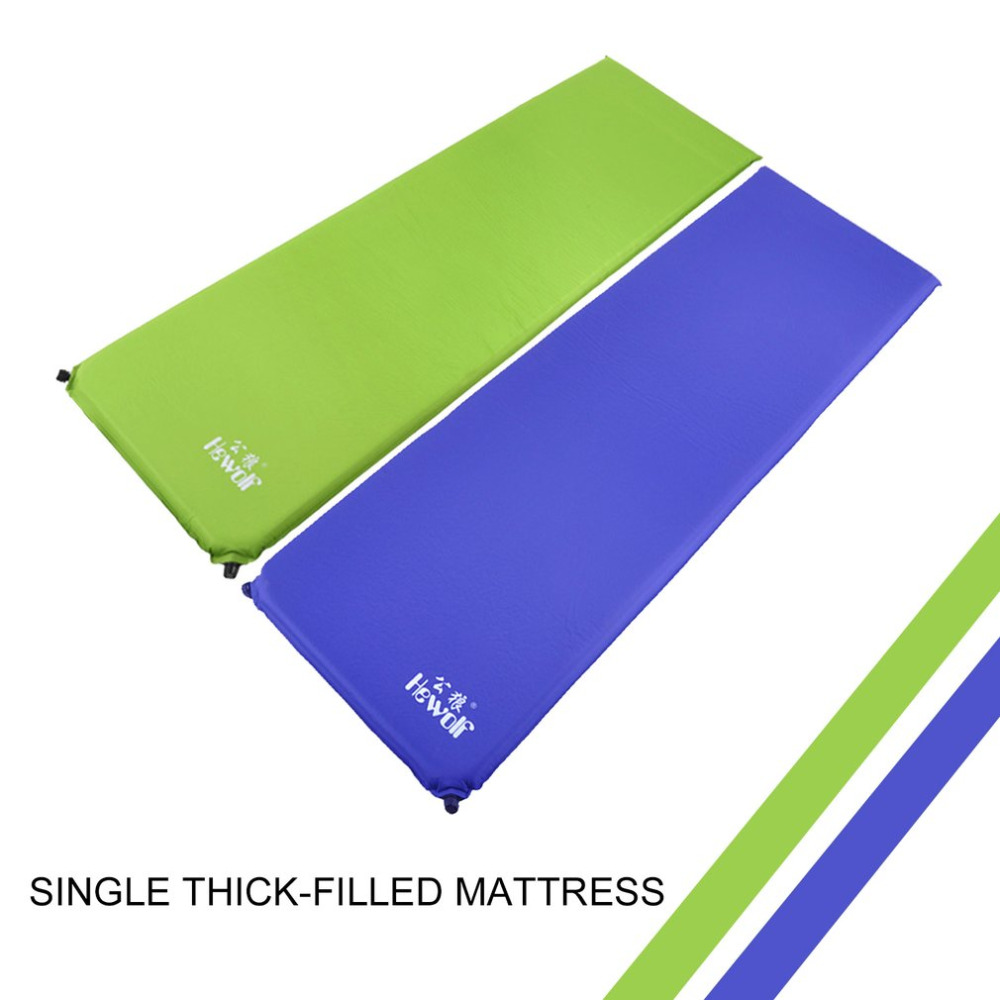 Hewolf Camping Mat Outdoor Folding Mat Automatic Inflatable Camping Mat Mattress Self-Inflating Moistureproof Tent Pad Two Color