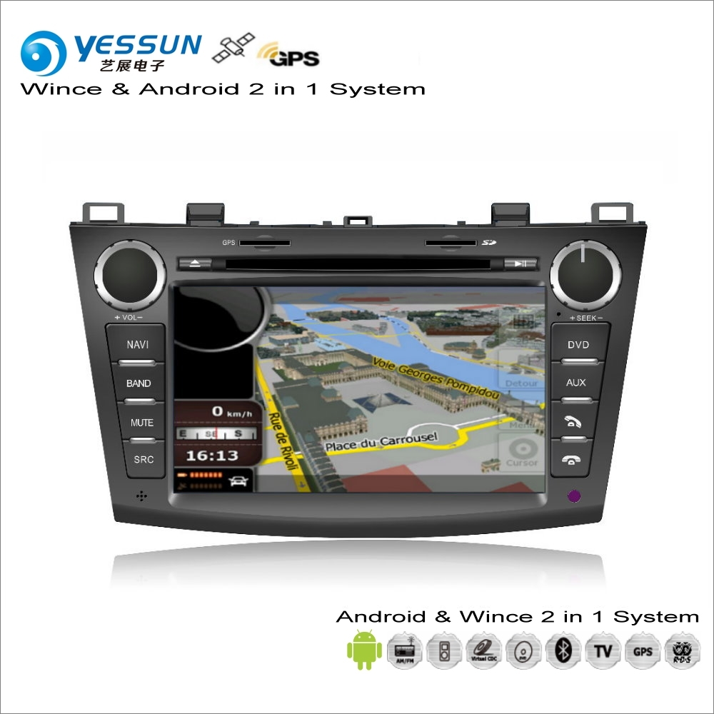 YESSUN Für Mazda3 Für <font><b>Mazda</b></font> <font><b>3</b></font> 2010 ~ 2013 Auto <font><b>Android</b></font> Multimedia Radio CD DVD Player GPS Navi Karte Audio video Stereo System image