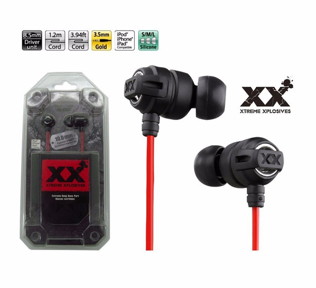 3.5mm In-ear FX1X Earphones Headsets Super Bass Stereo Earbuds for mobile phone MP3 MP4