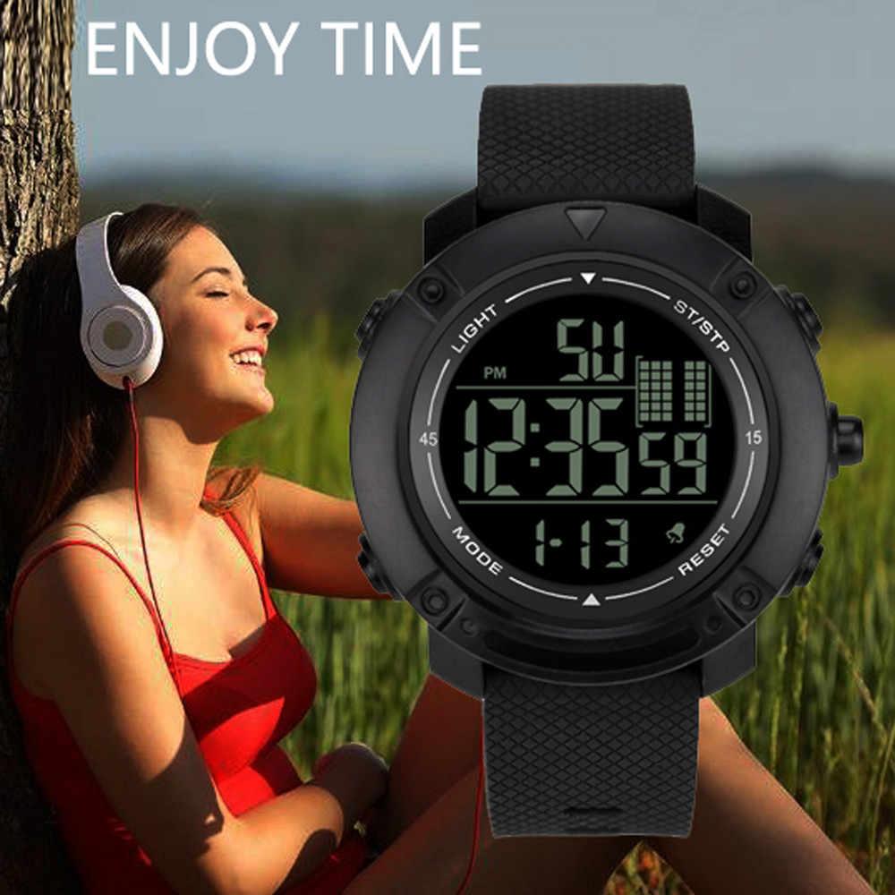 Reloj de pulsera electrónico de lujo para hombre analógico Digital militar deporte LED impermeable DZB16