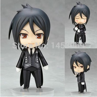 Nendoroid 4 Cute Black Butler Sebastian Michaelis PVC Action Figure Toy Doll #68 2017 winter beanies bicycle windproof motorcycle face mask hat neck helmet cap thermal fleece balaclava hat for men women