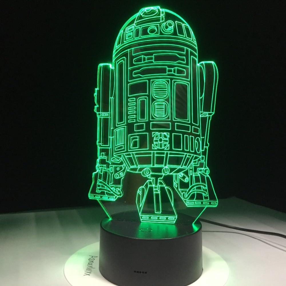 Star Wars Droid Toy R2d2 Light Children Room Bedroom