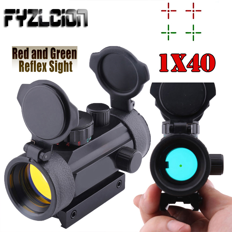 FYZCION Holographic 1 x 40 Red Dot Sight Airsoft Red Green Dot Sight Scope Hunting Scope 11mm 20mm Rail Mount Collimator SightFYZCION Holographic 1 x 40 Red Dot Sight Airsoft Red Green Dot Sight Scope Hunting Scope 11mm 20mm Rail Mount Collimator Sight