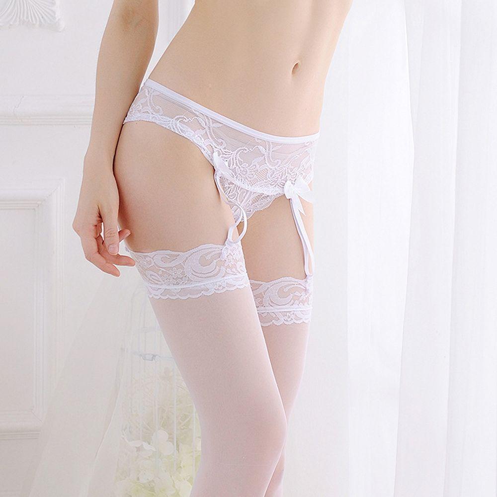 1 Pc Neue Sexy Elastische Gürtel Hosenträger Unterwäsche Frauen Charming Sheer Lace Floral Hohe Taille G-string Strümpfe Strumpfband Bequem Und Einfach Zu Tragen