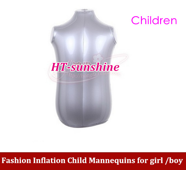 1PCS/LOT Inflatable PVC mannequin Children upper body Mannequin childrren mannequin inflated model/clothing display props new female woman half body top shirt display inflatable mannequin dummy torso model free shipping
