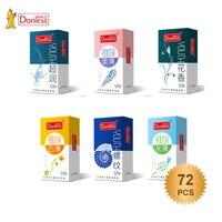 72pcs Condom Vaginal Stimulation Dotted Latex Rib Natural Rubber Penis Condoms Erotic Male Contraception Condom High Sensation