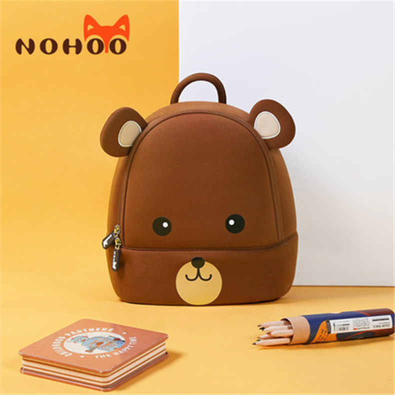 NOHOO School Bags High Quality Waterproof Kids Bag For Boy Girls Mochila Escolar Cartoon 3D 2-7 Year Old Kindergarten Schoolbag