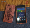 Mais novo luxo artesanal de bambu caixa de madeira para huawei p8 lite Casos Saco Do Telefone Rígido de Volta Protetor tampa Escultura Em Madeira Maciça Shell