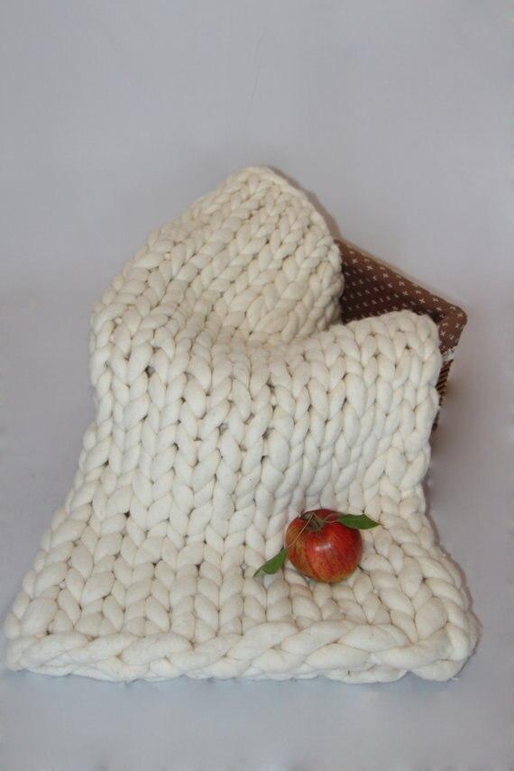 Couverture tricotée Extra épaisse, accessoire photo nouveau-né, remplisseur de panier, couverture de pose, attache kangourou pour bébé tricoté, 40*60 cm