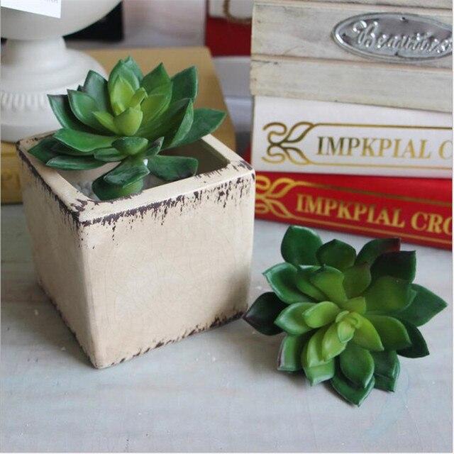 1pcs Artificial Plant Mini Succulent Lotus Lithops Leaf Desert Rare  Succulent Landscape Fake Flower Garden Decor