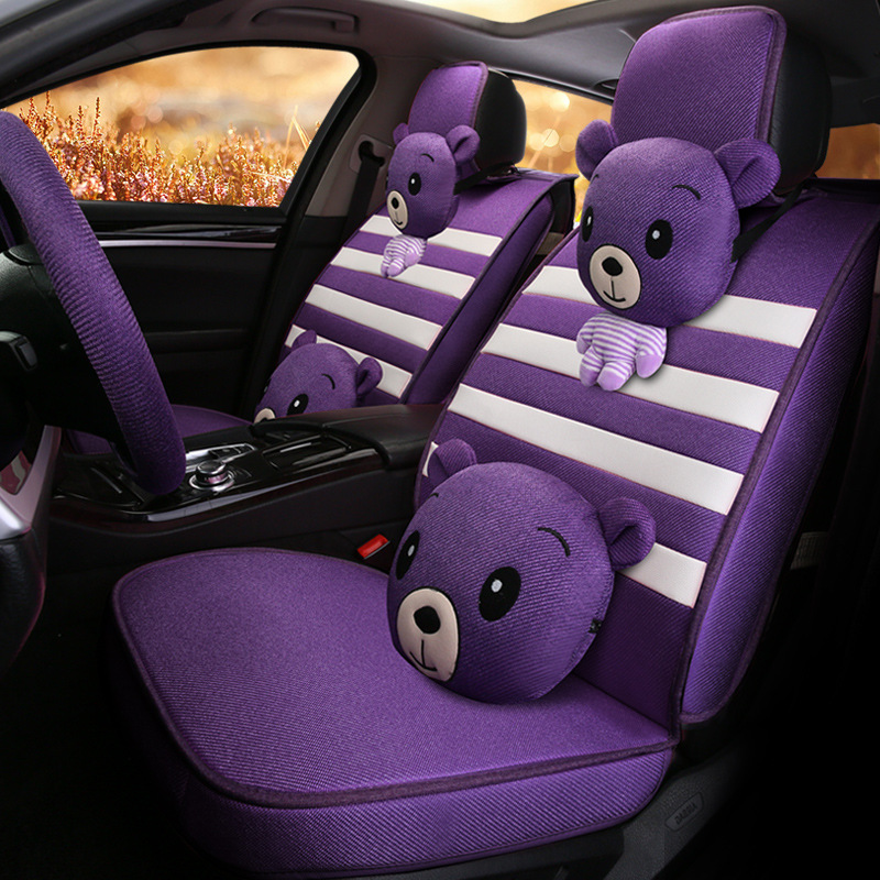 14pcs/set Car Styling Car Seat Covers 3D Cortoon Breathable Car Seat Protector For Most Car Auto-covers 2017 new inflatable car bed for back seat auto suitable for most of car accessories car styling free shipping