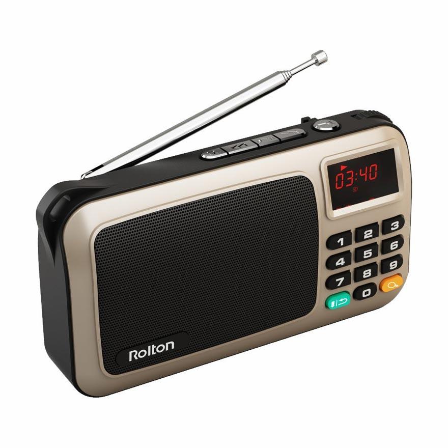 Rolton FM portatīvais mini radio skaļruņu mūzikas atskaņotājs - Portatīvie audio un video - Foto 3