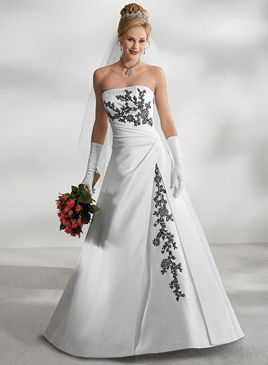 Robe mariee noire et blanche