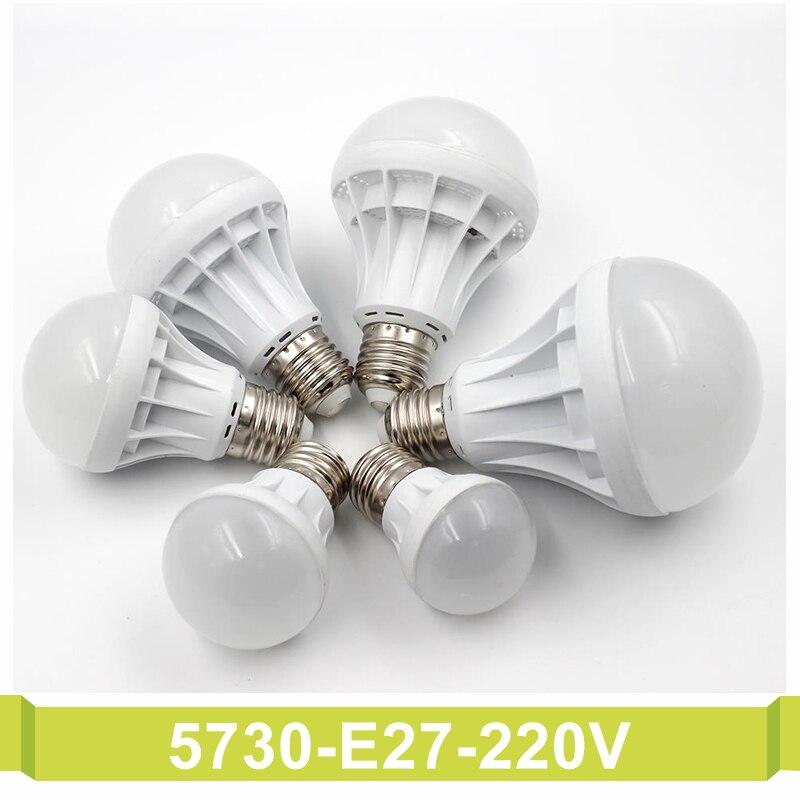T.Y.S SMD 5730 Focos Luz ampoule Lampadas Bombillas LED Bulb 3W 5W 7W 9W 10W 12W 15W Spotlight Led Lamp E27 220V Light Lampada