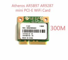 New Atheros AR5B97 802.11b/g/n PCI-E Half Size Network AR9287 300Mbps Wireless Wifi Mini PCIe Wlan Card for laptop notebook
