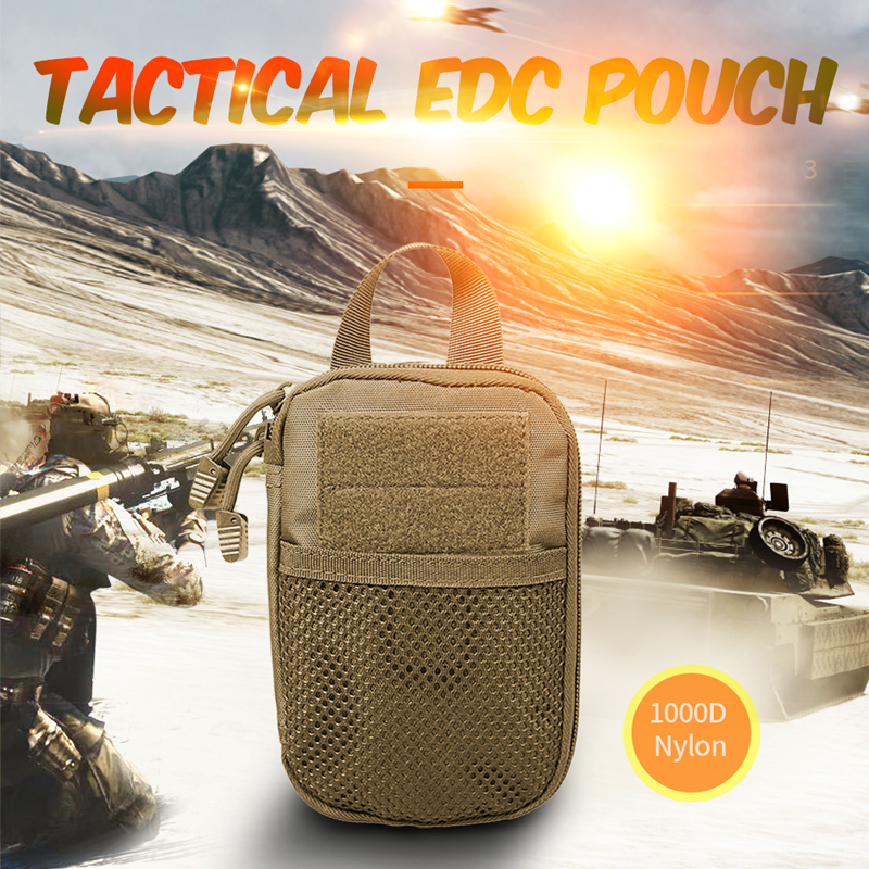 AIRSOFTPEAK Military EDC Molle Pouch Mesh Tools Accessory Pouches Tactical Waist Hunting Bags Outdoor Flashlight Magazine Pocket